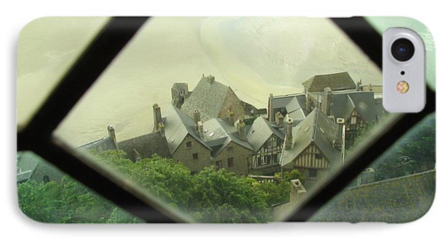 Le Mont St-michel IPhone 7 Case featuring the photograph Through A Window To The Past by Mary Ellen Mueller Legault