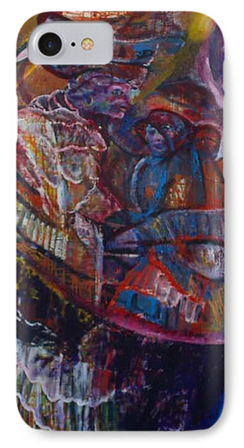 African Women IPhone 7 Case featuring the painting Tikor Woman by Peggy Blood