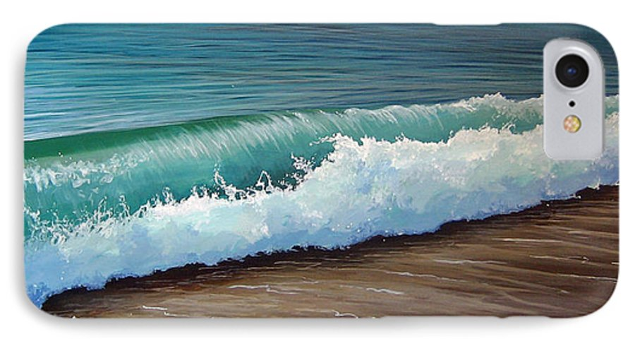 Wave On A Florida Beach IPhone 7 Case featuring the painting To The Shore by Hunter Jay
