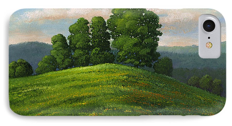 Landscape IPhone 7 Case featuring the painting Toboggan Hill by Frank Wilson