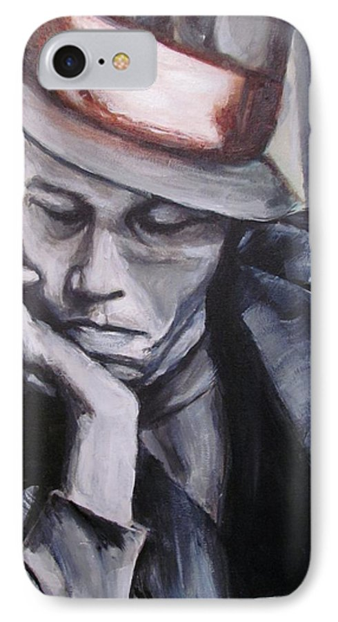 Celebrity Portraits IPhone 7 Case featuring the painting Tom Waits One by Eric Dee