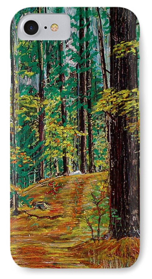 New Hampshire IPhone 7 Case featuring the pastel Trail At Wason Pond by Sean Connolly