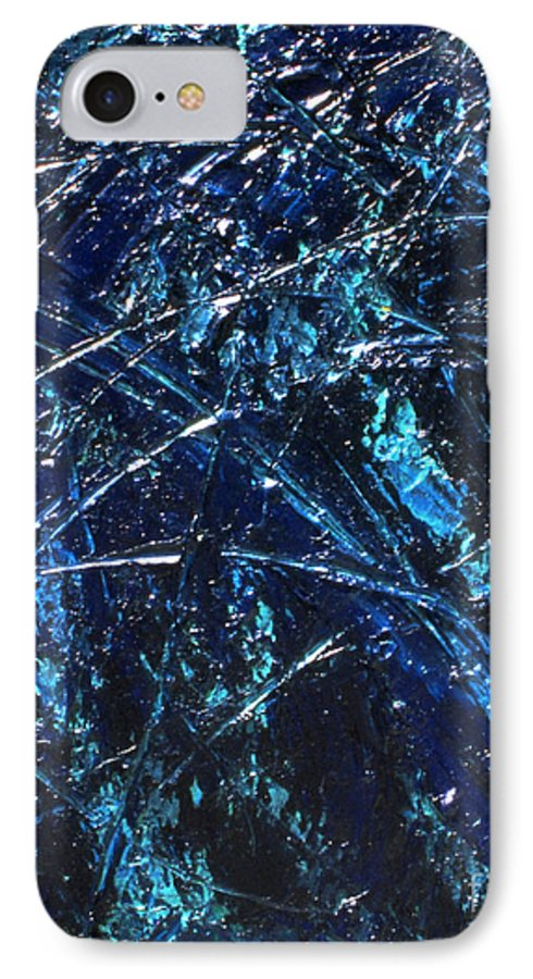 Abstract IPhone 7 Case featuring the painting Transitions I by Dean Triolo