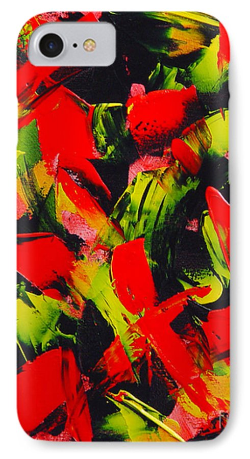 Abstract IPhone 7 Case featuring the painting Transitions IIi by Dean Triolo