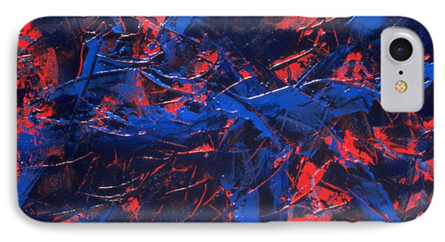 Abstract IPhone 7 Case featuring the painting Transitions Iv by Dean Triolo
