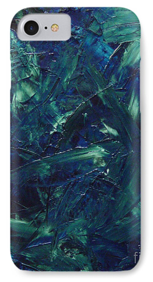 Abstract IPhone 7 Case featuring the painting Transtions Xi by Dean Triolo