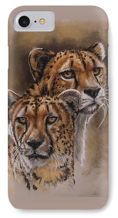 Cheetah IPhone 7 Case featuring the pastel Twins by Barbara Keith