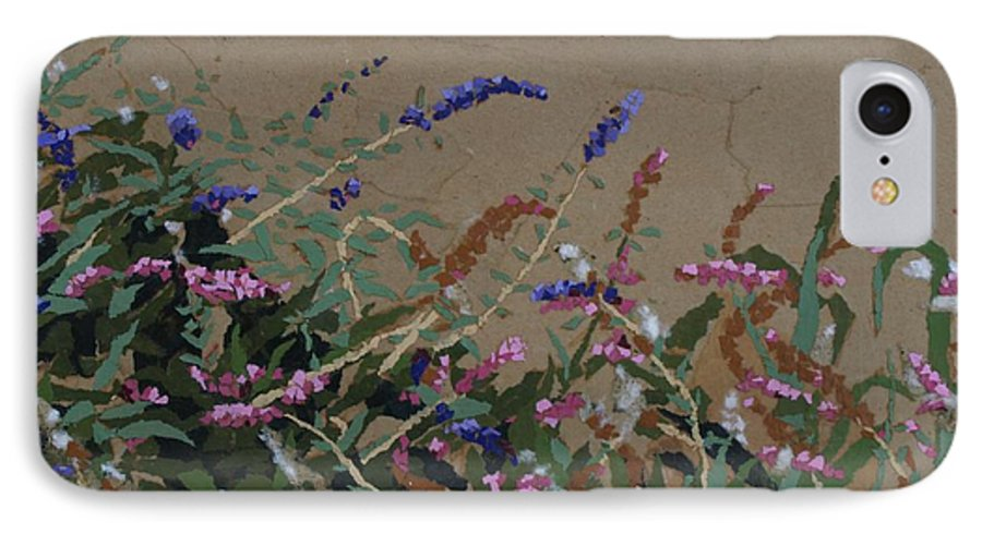 Flowering Butterfly Bush IPhone 7 Case featuring the painting Tyler by Leah Tomaino