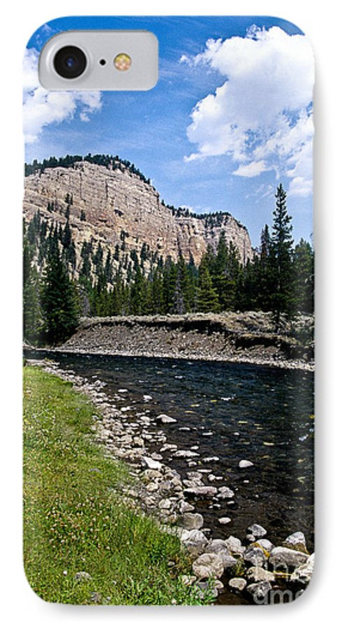 Landscape IPhone 7 Case featuring the photograph Upriver In Washake Wilderness by Kathy McClure
