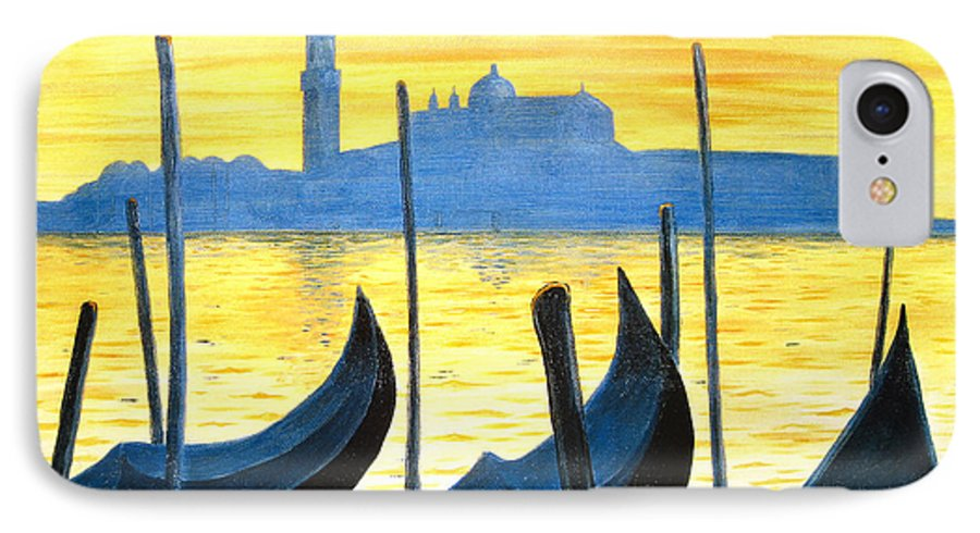 Venice IPhone 7 Case featuring the painting Venezia Venice Italy by Jerome Stumphauzer