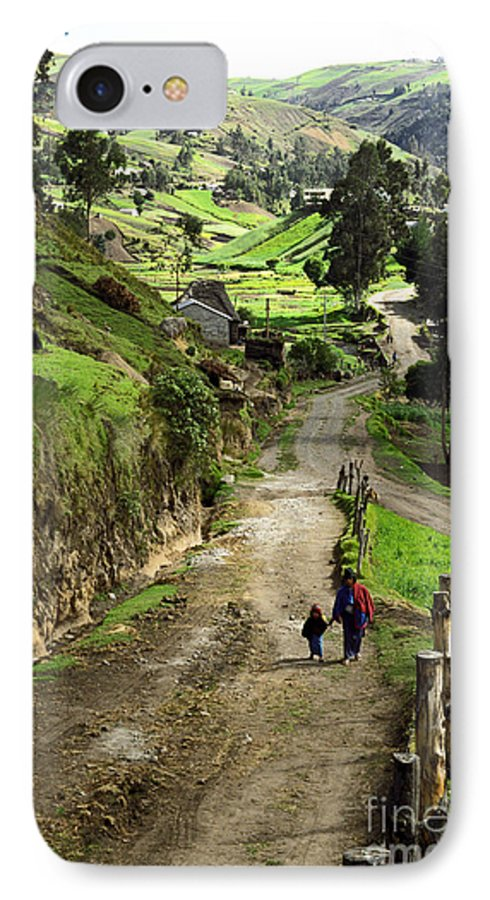 Ecuador IPhone 7 Case featuring the photograph View Of Lupaxi by Kathy McClure