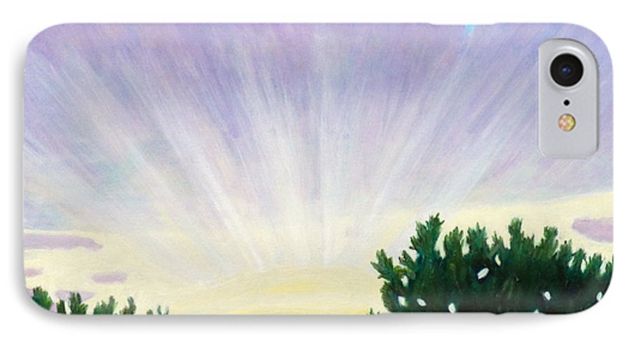 Skyscape IPhone 7 Case featuring the painting Visionary Sky by Brian Commerford