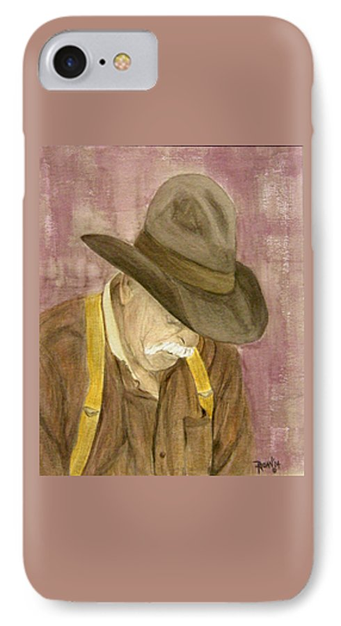 Western IPhone 7 Case featuring the painting Walter by Regan J Smith
