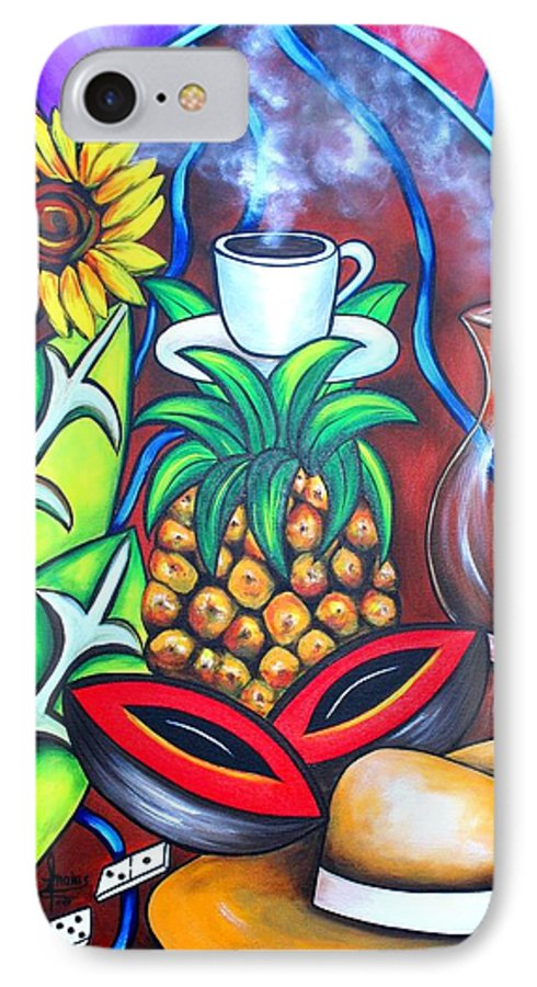 Cuban Paintings IPhone 7 Case featuring the painting Welcome To Here And Now by Annie Maxwell