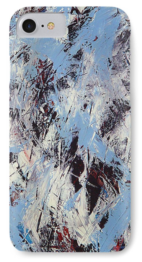 Abstract IPhone 7 Case featuring the painting Winter by Dean Triolo