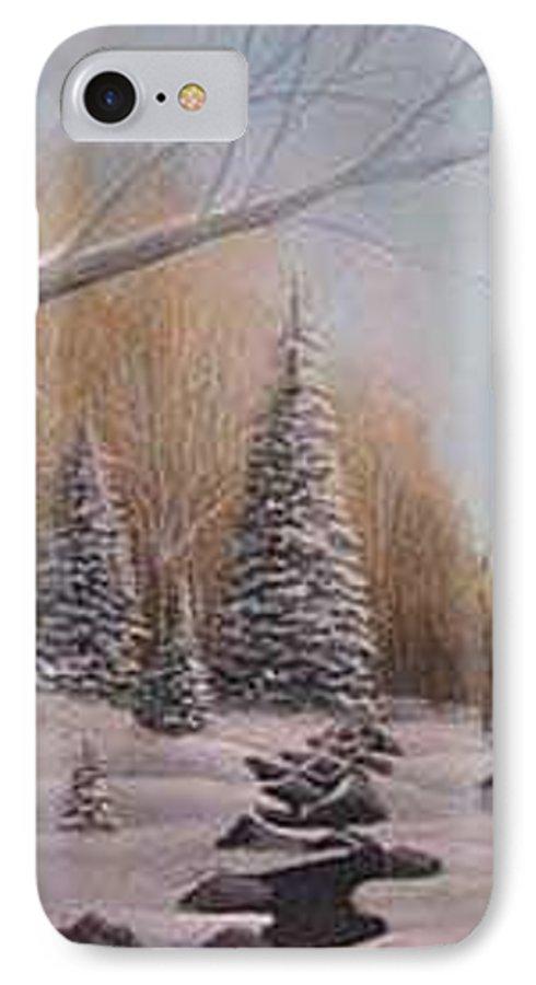 Rick Huotari IPhone 7 Case featuring the painting Winter Morning by Rick Huotari