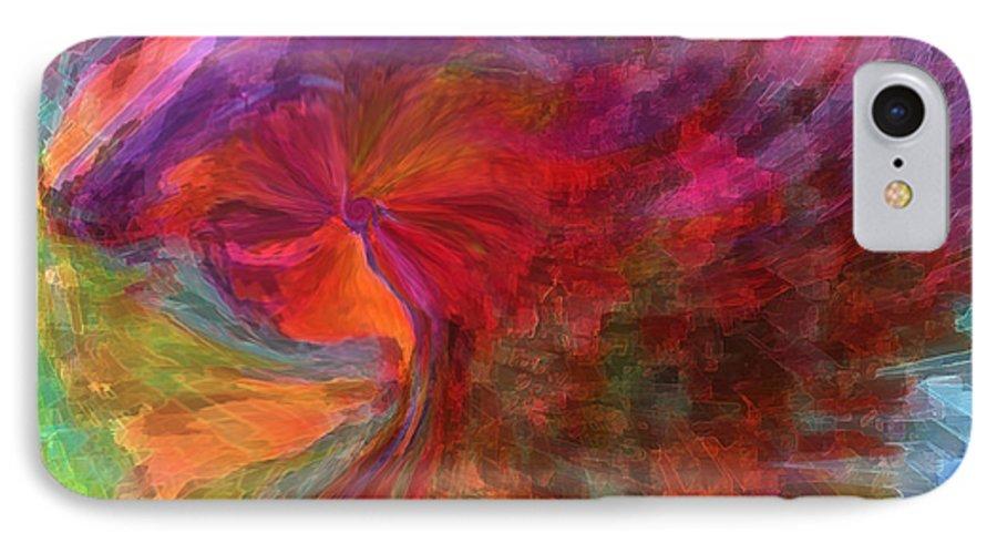 Woman Art IPhone 7 Case featuring the digital art Women by Linda Sannuti