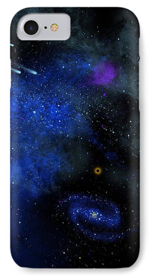 Wonders Of The Universe Mural IPhone 7 Case featuring the painting Wonders Of The Universe Mural by Frank Wilson