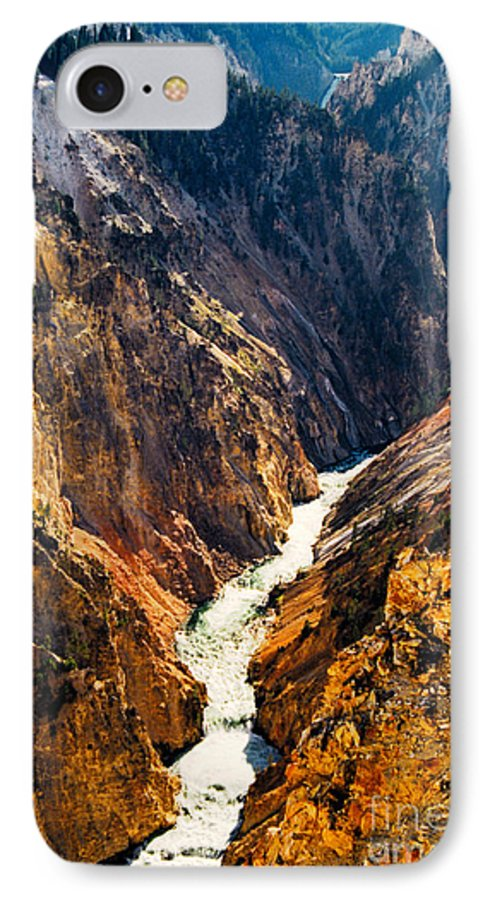 Yellowstone IPhone 7 Case featuring the photograph Yellowstone River by Kathy McClure