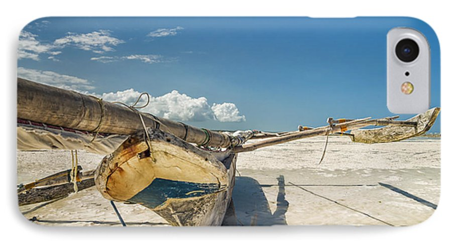 3scape IPhone 7 Case featuring the photograph Zanzibar Outrigger by Adam Romanowicz
