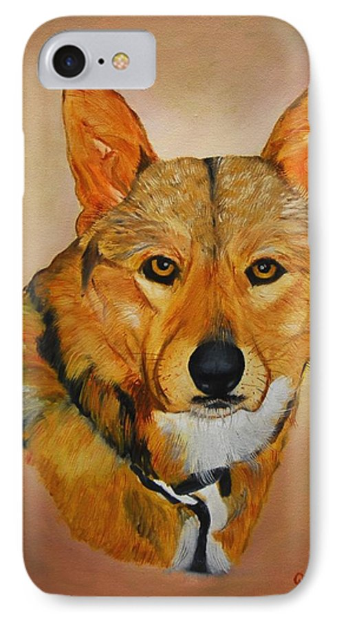 Animals IPhone 7 Case featuring the painting Zavious by Quwatha Valentine