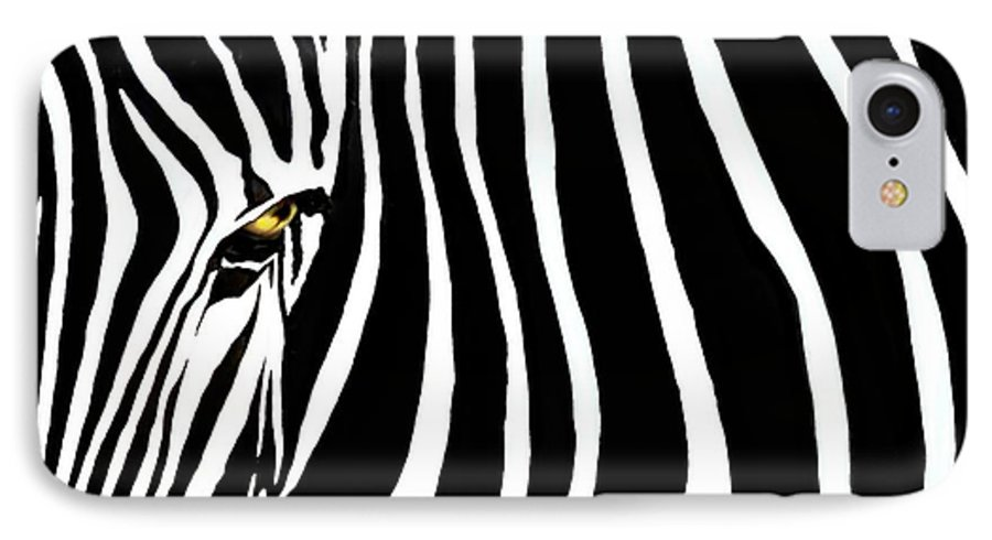 Zebra IPhone 7 Case featuring the photograph Zebressence by Dan Holm
