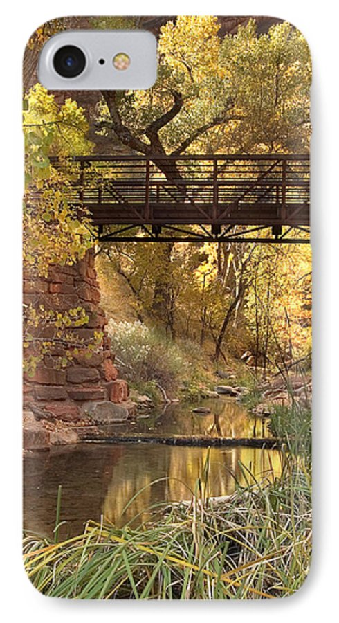 3scape IPhone 7 Case featuring the photograph Zion Bridge by Adam Romanowicz
