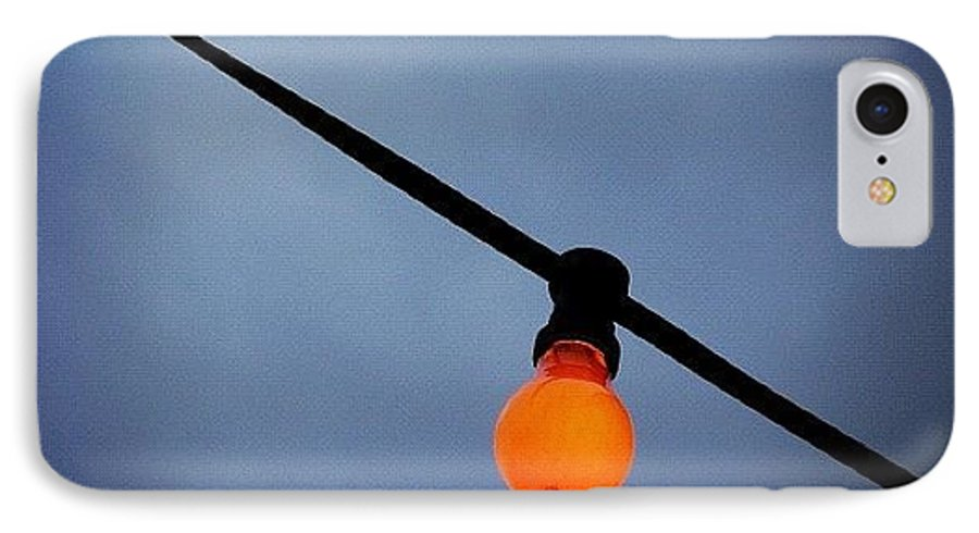 Orange IPhone 7 Case featuring the photograph Orange Light Bulb by Matthias Hauser