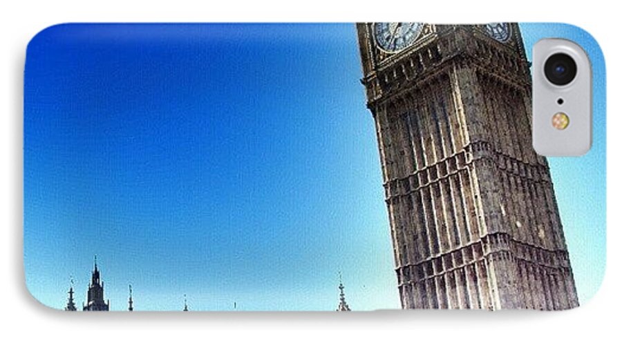 England IPhone 7 Case featuring the photograph #bigben #uk #england #london2012 by Abdelrahman Alawwad
