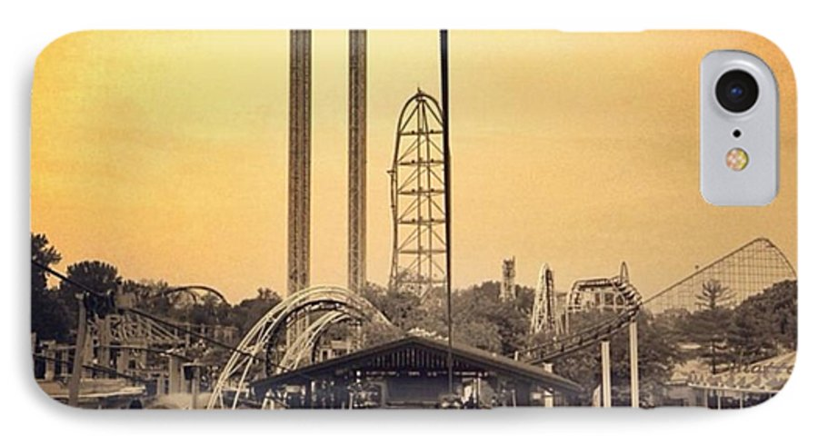 Cedarpoint IPhone 7 Case featuring the photograph #cedarpoint #ohio #ohiogram #amazing by Pete Michaud