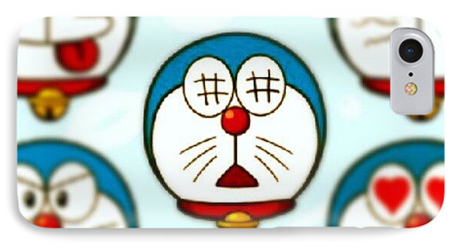 face after physics doraemon cute iphone 7 case for sale by dara mutia
