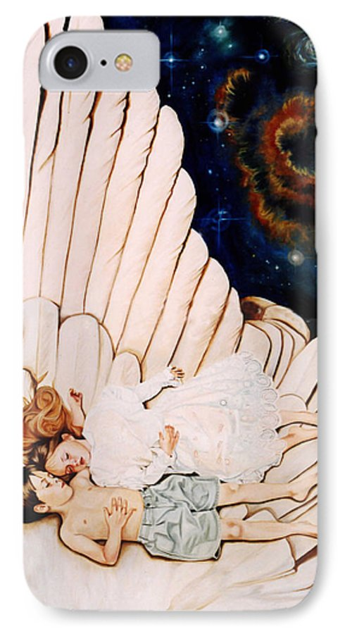 Be Still And Know That I Am God IPhone 7 Case featuring the painting Be Still by Teresa Carter