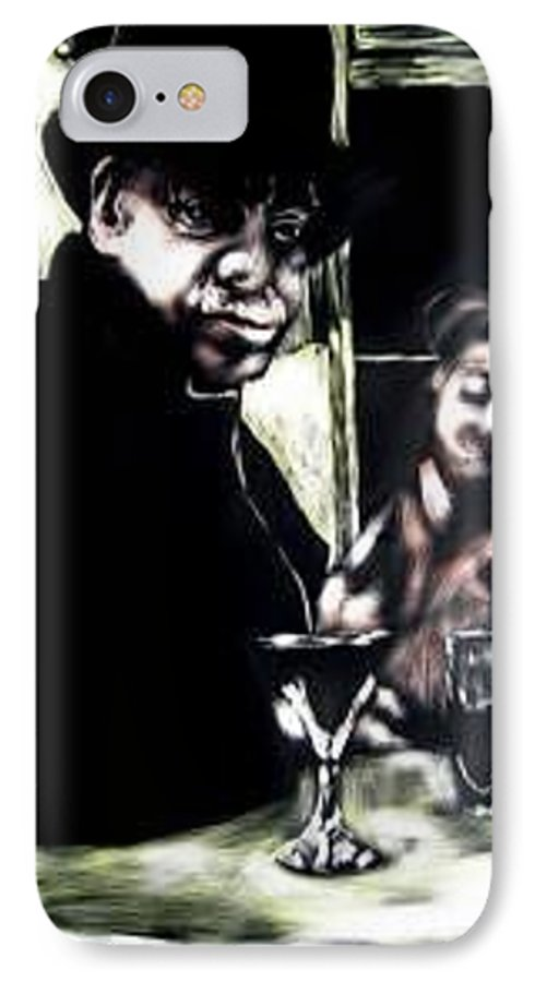 Commentary IPhone 7 Case featuring the mixed media My Old New Orleans by Chester Elmore