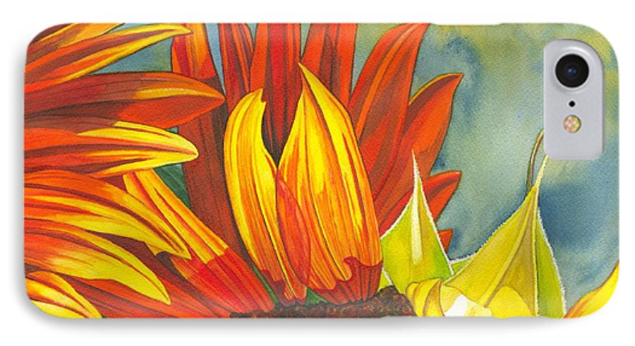 Sunflower IPhone 7 Case featuring the painting Ray by Catherine G McElroy