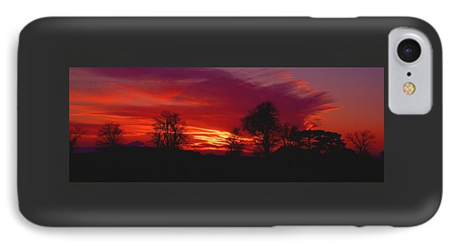 Sunset IPhone 7 Case featuring the photograph 022107-37 by Mike Davis