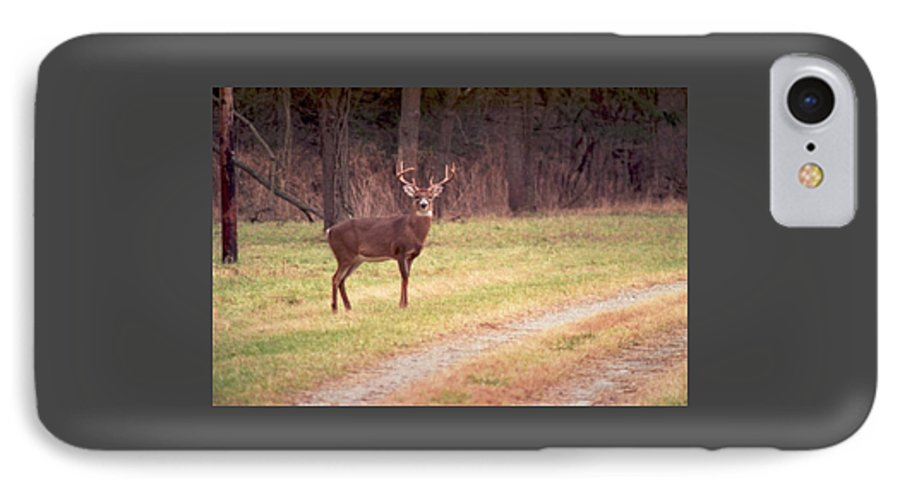 Deer IPhone 7 Case featuring the photograph 070506-17 by Mike Davis