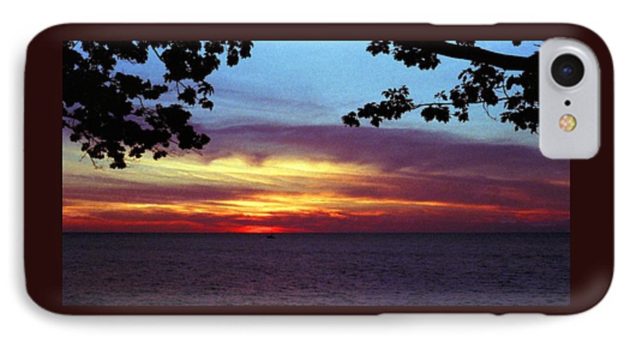 Sunset IPhone 7 Case featuring the photograph 070506-68 by Mike Davis