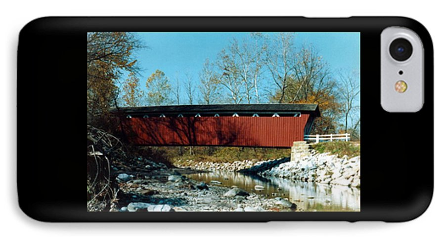 Bridge IPhone 7 Case featuring the photograph 072106-31 by Mike Davis
