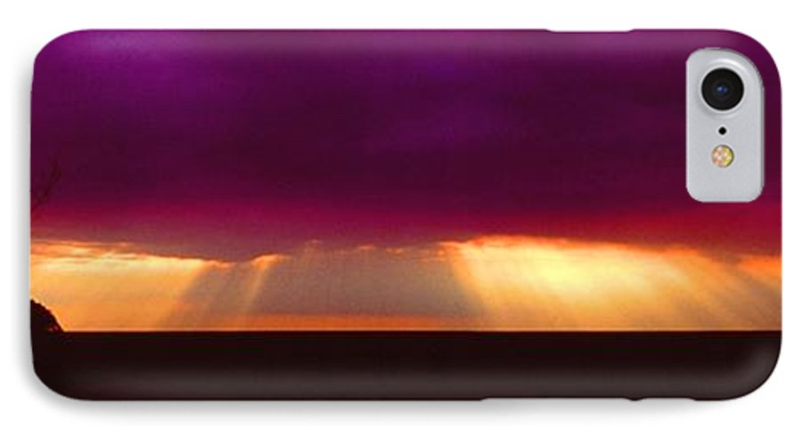 Sunset IPhone 7 Case featuring the photograph 092908-4 by Mike Davis