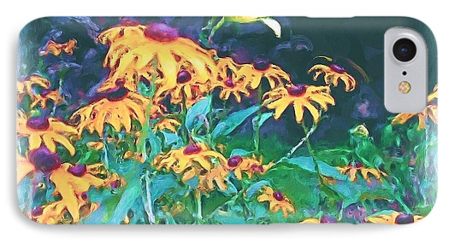 Mixed Media IPhone 7 Case featuring the painting A Lily In The Field by Patricia Griffin Brett