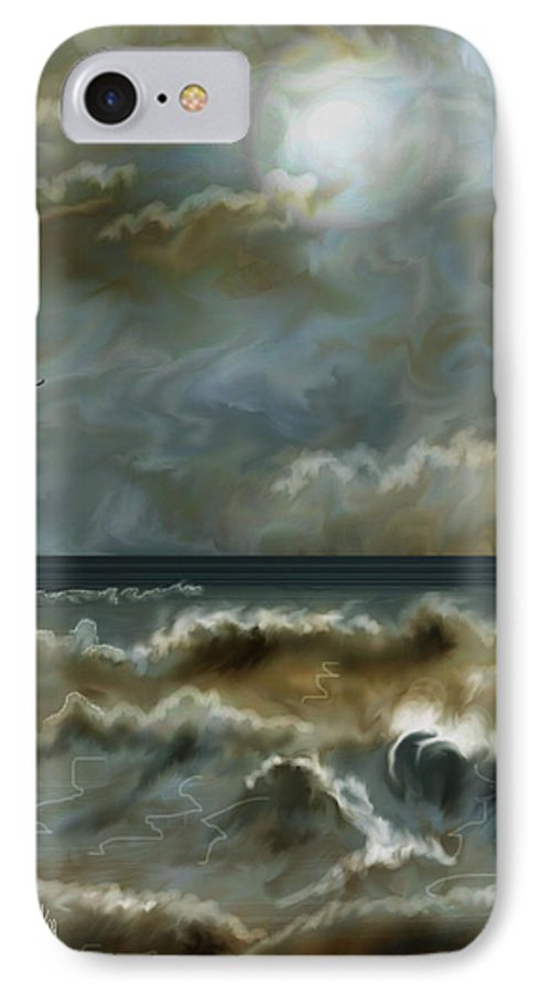 Seascape IPhone 7 Case featuring the painting After The Squall by Anne Norskog