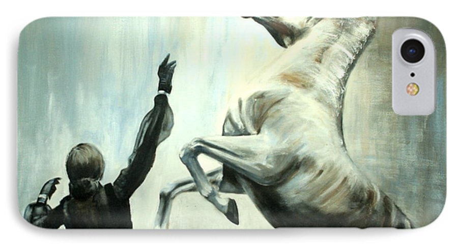 Horses IPhone 7 Case featuring the painting Amazing Grace by Fiona Jack