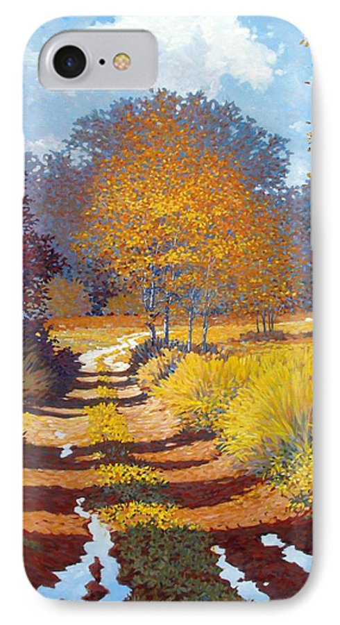 Landscape IPhone 7 Case featuring the painting Autumn by Kevin Lawrence Leveque