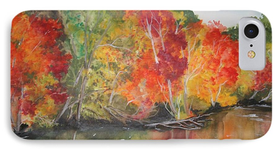 Autumn IPhone 7 Case featuring the painting Autumn Splendor by Jean Blackmer