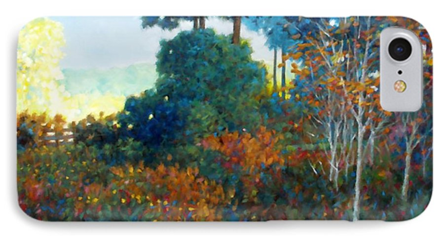 Landscape IPhone 7 Case featuring the painting Back Gate by Kevin Lawrence Leveque