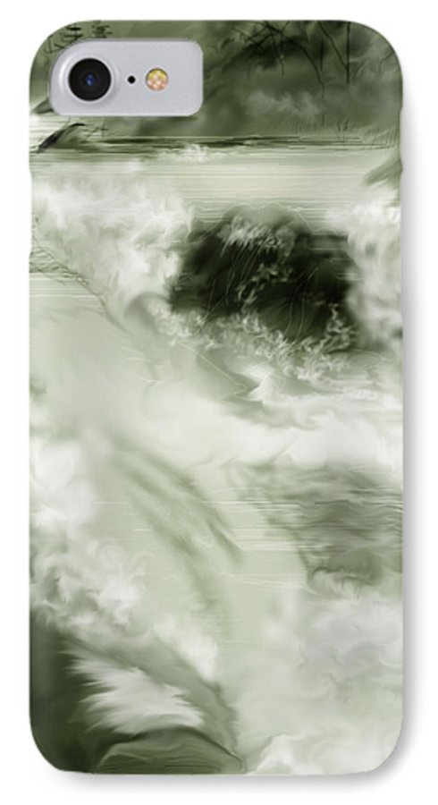 White Water Landscape IPhone 7 Case featuring the painting Cherry Creek White Water by Anne Norskog