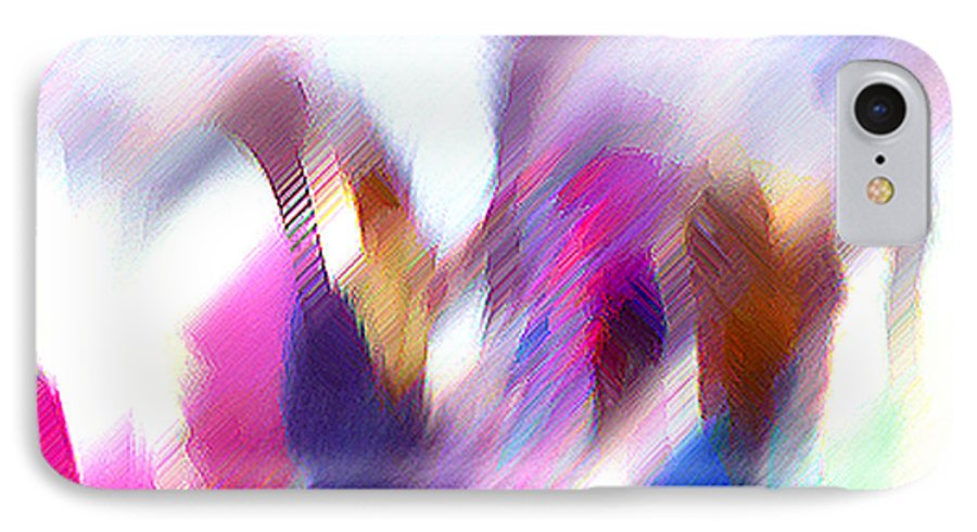 Digital Media IPhone 7 Case featuring the painting Color Dance by Anil Nene