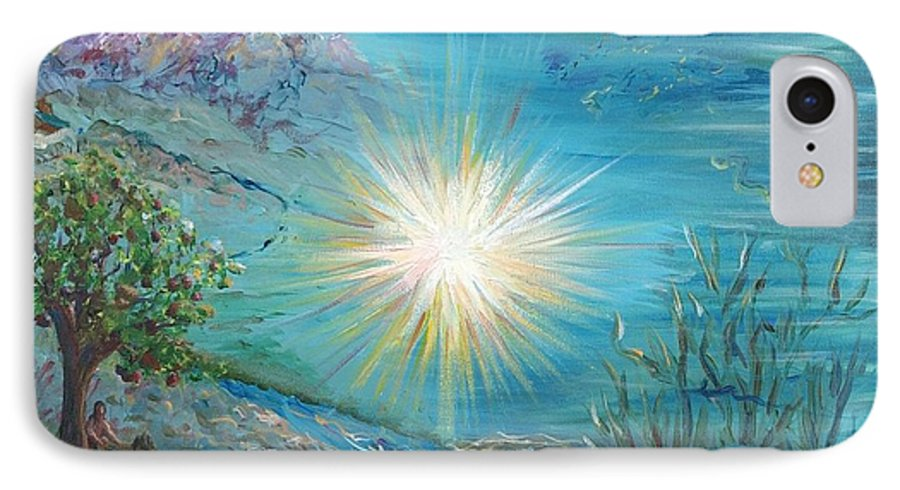 Creation IPhone 7 Case featuring the painting Creation by Nadine Rippelmeyer