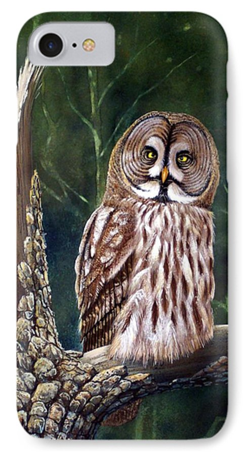 Wildlife IPhone 7 Case featuring the painting Deep In The Woods by Frank Wilson