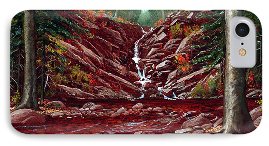 Frank Wilson IPhone 7 Case featuring the painting Deepwoods Cascade by Frank Wilson